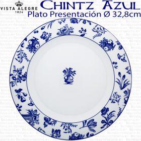 Vista Alegre CHINTZ AZUL Bajo Plato Presentación 32,8 cm