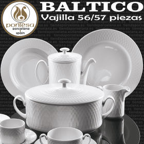 Vajilla Baltico 56/57 piezas Porcelanas Pontesa Santa Clara