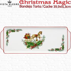 Bandeja Tarta/Pastas 39,9x15,3cm. Vista Alegre CHRISTMAS MAGIC