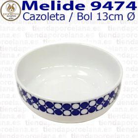 Cazoleta Bol Cereales 13cm Ø Melide 9474 Porcelanas Pontesa