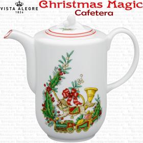 Cafetera de Navidad decoración Christmas Magic colección Vista Alegre