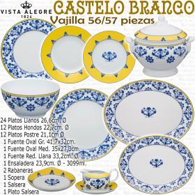 Vajilla completa 57 piezas Vista Alegre CASTELO BRANCO