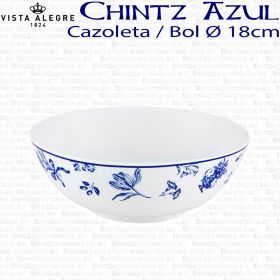 cazoleta bol vista alegre chintz azul flores cobalto ref 21126867
