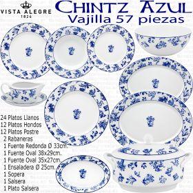 Vajillas modernas Vista Alegre CHINTZ Flores Azul