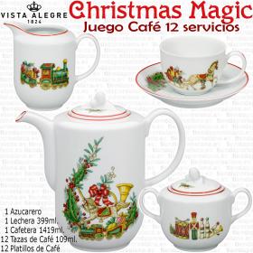 Juego de Café 12 Servicios (27 piezas) Vista Alegre CHRISTMAS MAGIC