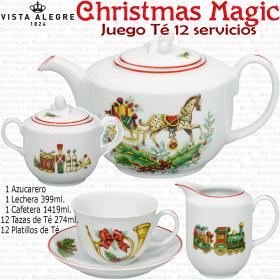 Juego de Té para Navidad Christmas Magic Vista Alegre Porcelana