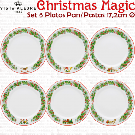 Platos Navidad Pan Pastas Vista Alegre Christmas Magic