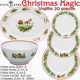 Vajilla Navidad 20 piezas Vista Alegre CHRISTMAS MAGIC