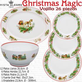 Vajilla Navidad 26 piezas Vista Alegre CHRISTMAS MAGIC
