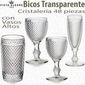 Cristalería 48 piezas con Vasos Altos Vista Alegre BICOS - PICOS Transparente