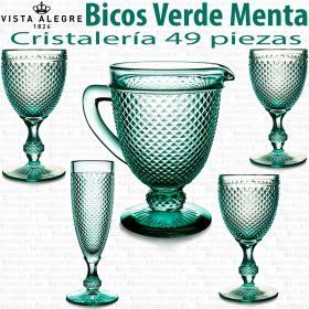 Cristalería de mesa 49 copas con Jarra de Agua Bicos - Picos