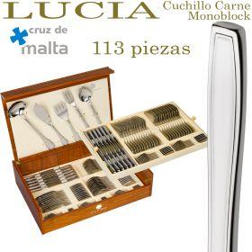 Cubertería LUCIA 113 piezas ref. 8000 Cruz de Malta con Cuchillo Chuletero