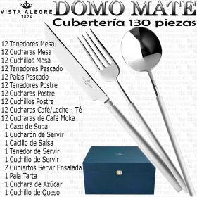 Cuberteria Domo MANGO MATE 130 piezas Vista Alegre