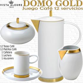 Domo Gold Oro Vista Aletre Juego Café 12 servicios 27 piezas)