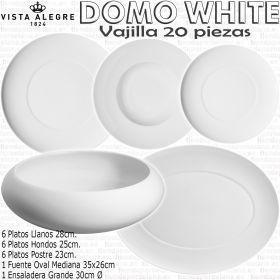 Domo White vajilla Vista Alegre 20 piezas servicios de mesa
