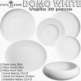 Domo Blanco Vista Alegre Vajilla 39 piezas