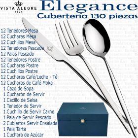 ELEGANCE Vista Alegre Cubertería 130 piezas completa en Estuche