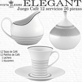 Juego Café 12 servicios 26 piezas (Sin Cafetera) Vista Alegre ELEGANT