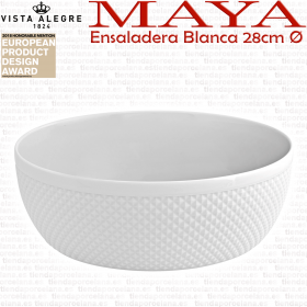 Ensaladera Blanca Mediana 28cm Vista Alegre MAYA decoracion blanco relieve