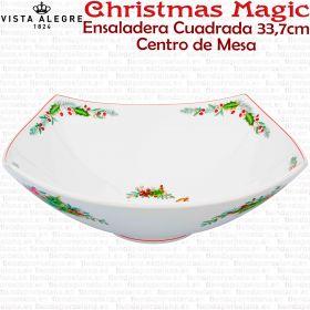 Centro de Mesa Ensaladera Cuadrada decoración Navidad Vista Alegre