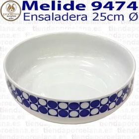Ensaladera Grande 25cm Ø Melide 9474 Porcelanas Pontesa