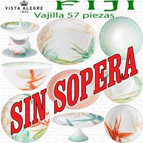 FIJI Vista Alegre Vajilla 57 piezas SIN SOPERA