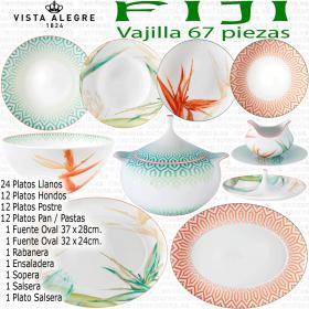 Vajilla FIJI 67 piezas Vista Alegre