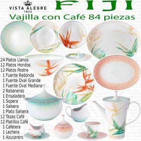 Vajilla completa FIJI Vista Alegre 84 piezas con Juego de Café
