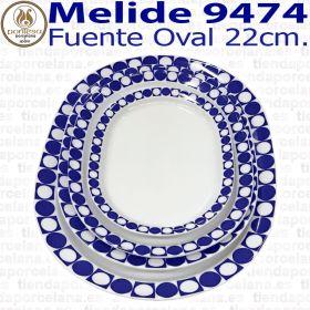 Rabanera / Fuente Oval 22cm Melide 9474 Porcelanas Pontesa
