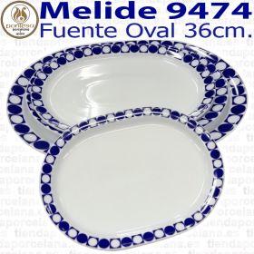 Fuente Oval 36cm Melide 9474 Porcelanas Pontesa Santa Clara