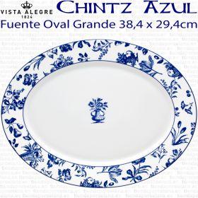 Fuente Oval Grande 38,4 x 29,4cm Vista Alegre CHINTZ AZUL