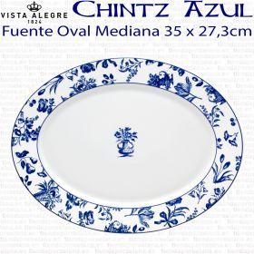 Fuente Oval Mediana 35 x 27,3cm Vista Alegre CHINTZ AZUL