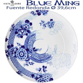 Fuente Redonda Vista Alegre BLUE MING 39,6 cm Ø