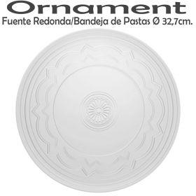 Fuente Redonda / Bandeja de Pastas 32,7cm Ø Vista Alegre Ornament Domo