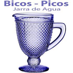 Jarra de Agua Cristal Bicos - Picos Azul Lavanda Vista Alegre Atlantis