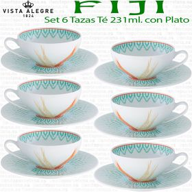 Set 6 Tazas Té con Plato FIJI Vista Alegre