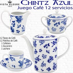 CHINTZ Vista Alegre Juego de Café moderno 12 servicios 27 piezas