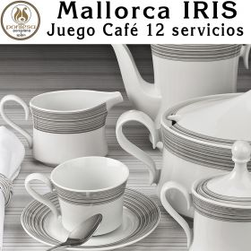Juego Café 12 servicios (27 piezas) Pontesa / Santa Clara Mallorca IRIS