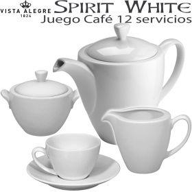 Juego Café SPIRIT WHITE 12 servicios (27 piezas)