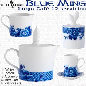 Vista Alegre BLUE MING Juego Café 12 servicios (27 piezas)