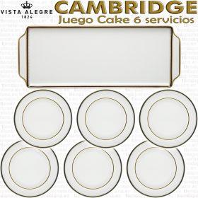 Vista Alegre Cambridge Juego de Cake 6 servicios 7 piezas