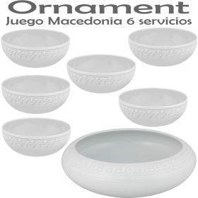 Juego Macedonia 6 servicios (7 piezas) Vista Alegre Domo Ornament