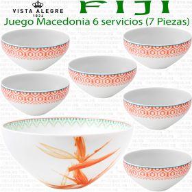 Juego Macedonia 6 servicios (7 piezas) Vista Alegre FIJI