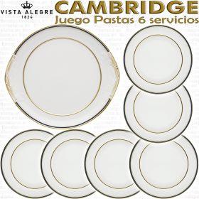 Juego de Pastas Vista Alegre Cambridge 6 servicios 7 piezas