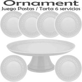 Juego de Pastas 6 servicios (7 piezas) Vista Alegre Domo Ornament
