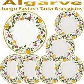 Juego de Pastas / Tarta 6 Servicios (7 piezas) ALGARVE Vista Alegre