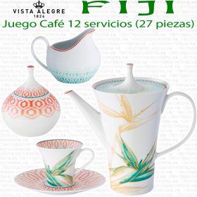 Vista Alegre FIJI Juego Café 12 servicios (27 piezas)