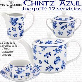 CHINTZ Vista Alegre Juego de Té elegante 12 servicios 27 piezas