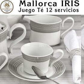 Juego Té 12 servicios (27 piezas) Pontesa / Santa Clara Mallorca IRIS