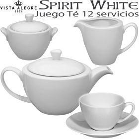 Juego Té SPIRIT WHITE 12 servicios (27 piezas)